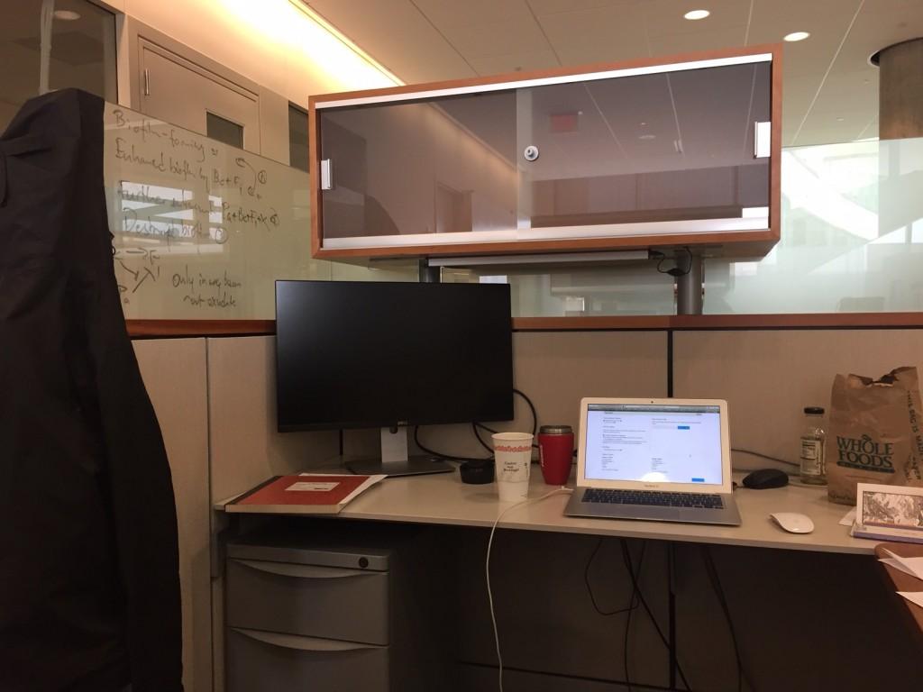 My desk at WID